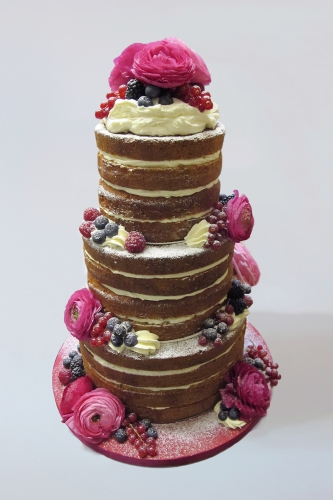 WEDDING CAKE_NAKED CAKE RANUNCULUS